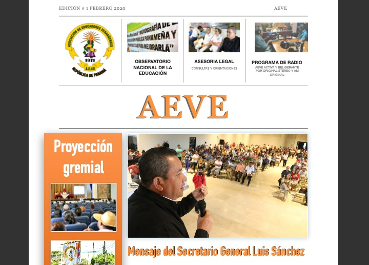 Boletín informativo de AEVE. Febrero 2020