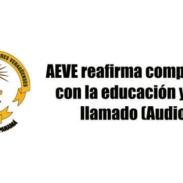 AEVE reafirma compromiso con la educación y hace llamado (Audios)
