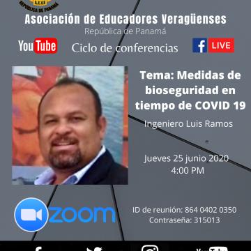 Conferencia: Medidas de bioseguridad en tiempo de COVID 19