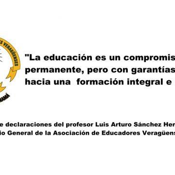 """""""La educación es un compromiso permanente, pero  con garantías hacia una  formación integral   e inclusiva"""""""