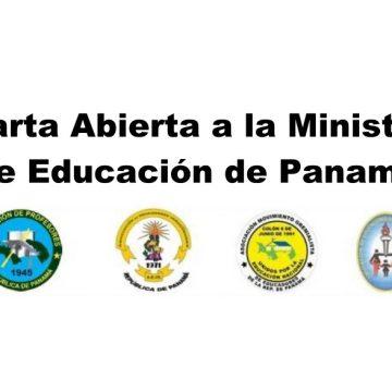 Carta Abierta a la Ministra de Educación de Panamá