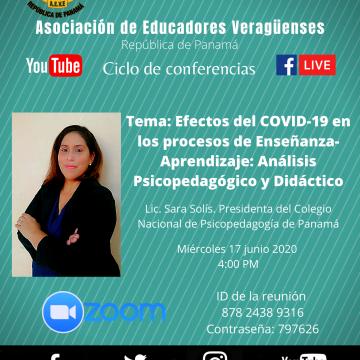 Conferencia virtual: Efectos del COVID-19 en los procesos de Enseñanza-Aprendizaje