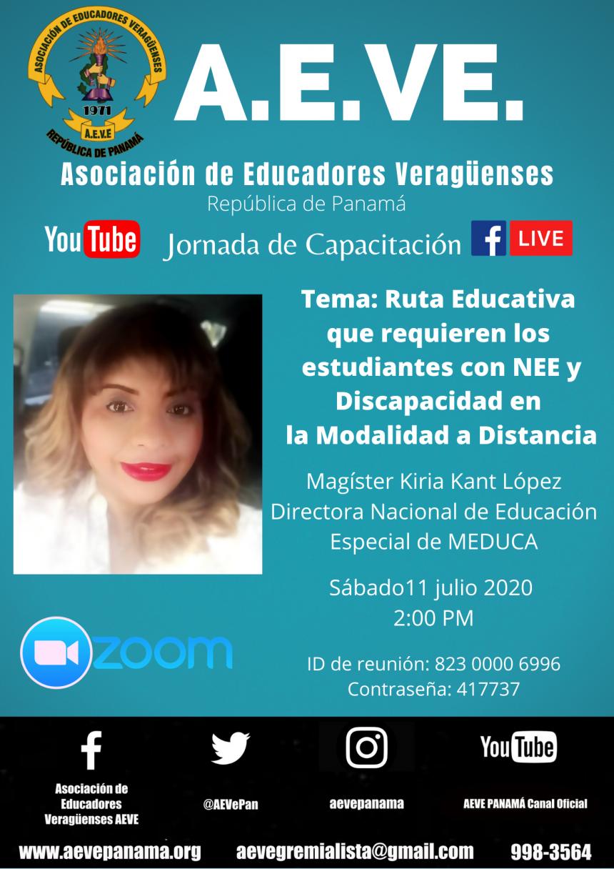 Jornada de capacitación: Ruta Educativa que requieren los estudiantes con NEE y Discapacidad en la Modalidad a Distancia