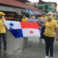 Protesta en Colón exigen la liberación de la banda ancha de internet para los estudiantes