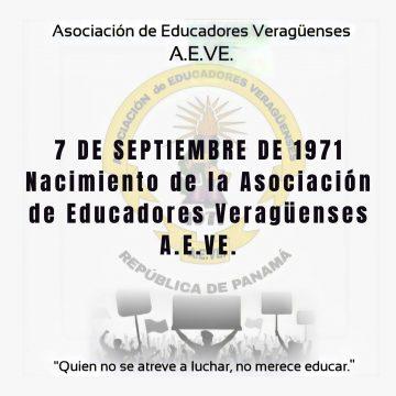 7 de septiembre de 1971. Nacimiento de la Asociación de Educadores Veragüenses A.E.VE.