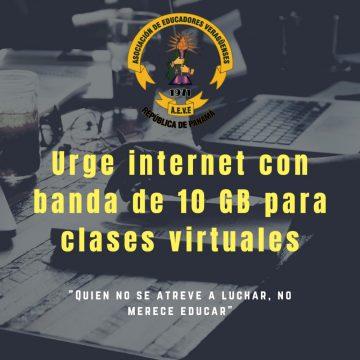 Urge internet con banda de 10 GB para clases virtuales