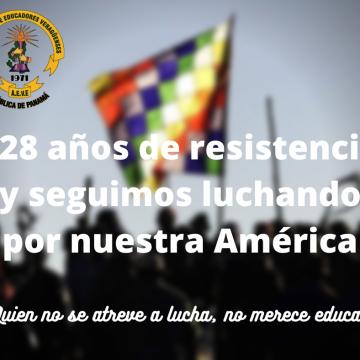 528 años de resistencia y seguimos luchando por nuestra América