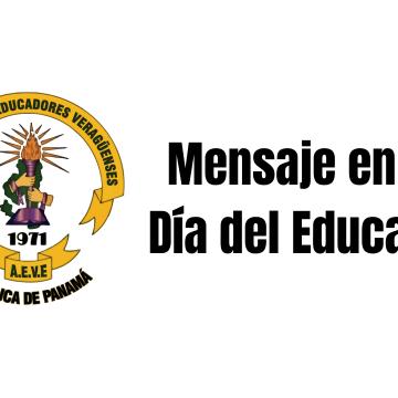 Mensaje en el Día del Educador