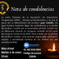 Nota de condolencias