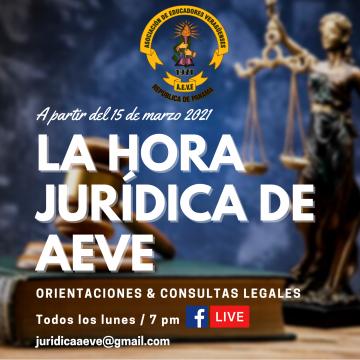 La hora jurídica de AEVE