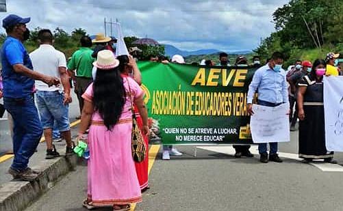 AEVE. Jornada de protesta por mejores condiciones humanas en Boca del Monte
